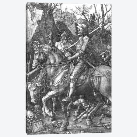 Knight, Death And The Devil, 1513 Canvas Print #BMN6571} by Albrecht Dürer Canvas Print