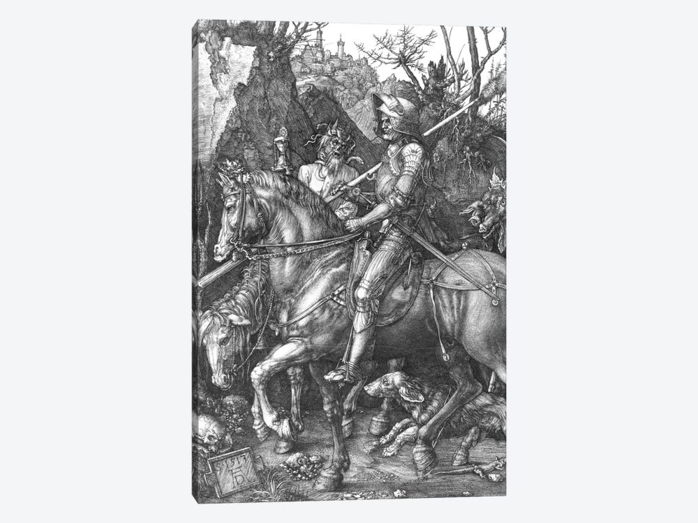 Knight, Death And The Devil, 1513 by Albrecht Dürer 1-piece Canvas Print