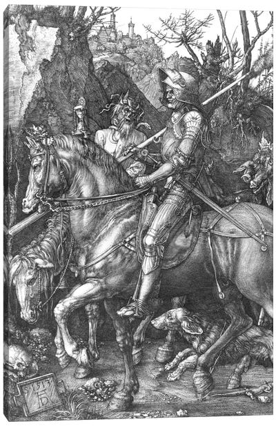 Knight, Death And The Devil, 1513 Canvas Art Print