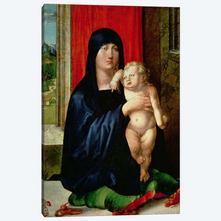 Madonna And Child, c.1496-99 Canvas Print #BMN6574} by Albrecht Dürer Canvas Art