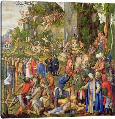 Martyrdom Of The Ten Thousand, 1508 Canvas Art Print