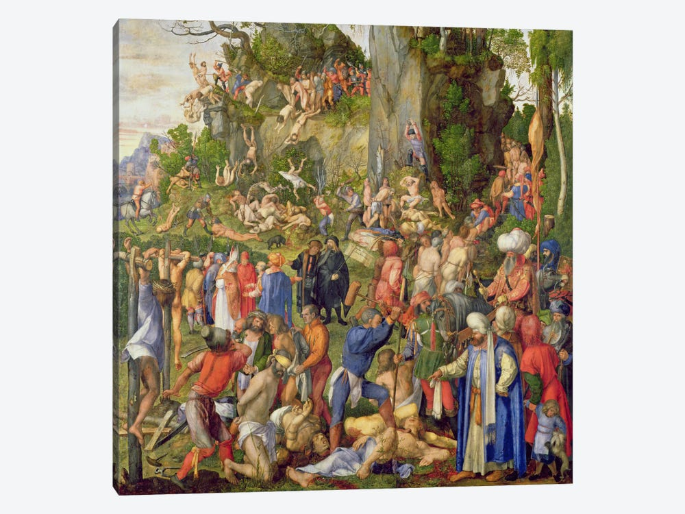 Martyrdom Of The Ten Thousand, 1508 1-piece Canvas Artwork