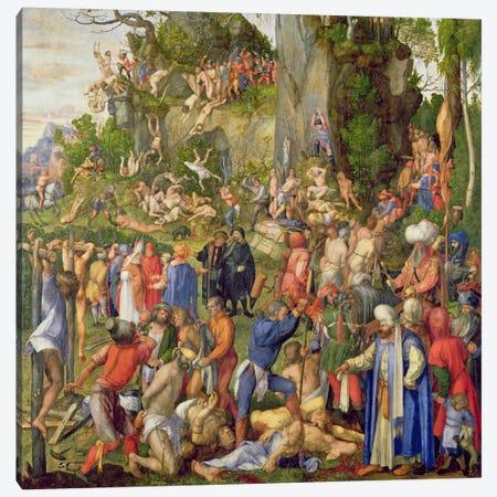 Martyrdom Of The Ten Thousand, 1508 Canvas Print #BMN6576} by Albrecht Dürer Canvas Artwork