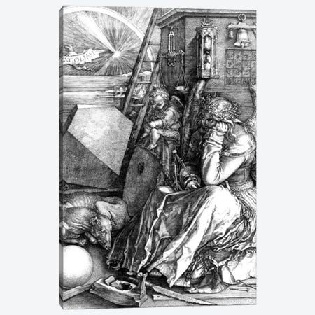 Melancholia, 1514 Canvas Print #BMN6577} by Albrecht Dürer Canvas Artwork