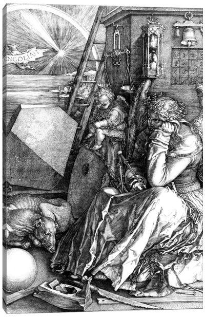 Melancholia, 1514 Canvas Art Print