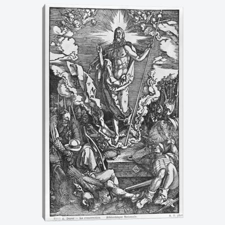 Resurrection (Illustration From The Great Passion) Canvas Print #BMN6578} by Albrecht Dürer Canvas Art Print
