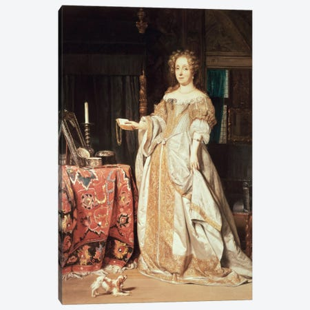 Portrait of a Lady Canvas Print #BMN657} by Gabriel Metsu Canvas Wall Art