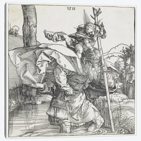 Saint Christopher, 1511 Canvas Print #BMN6580} by Albrecht Dürer Canvas Wall Art
