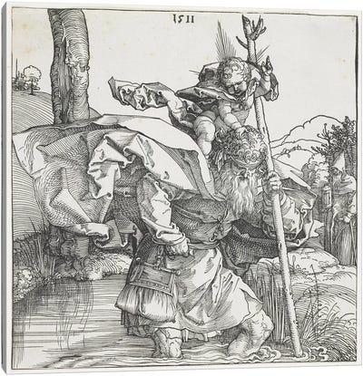 Saint Christopher, 1511 Canvas Art Print