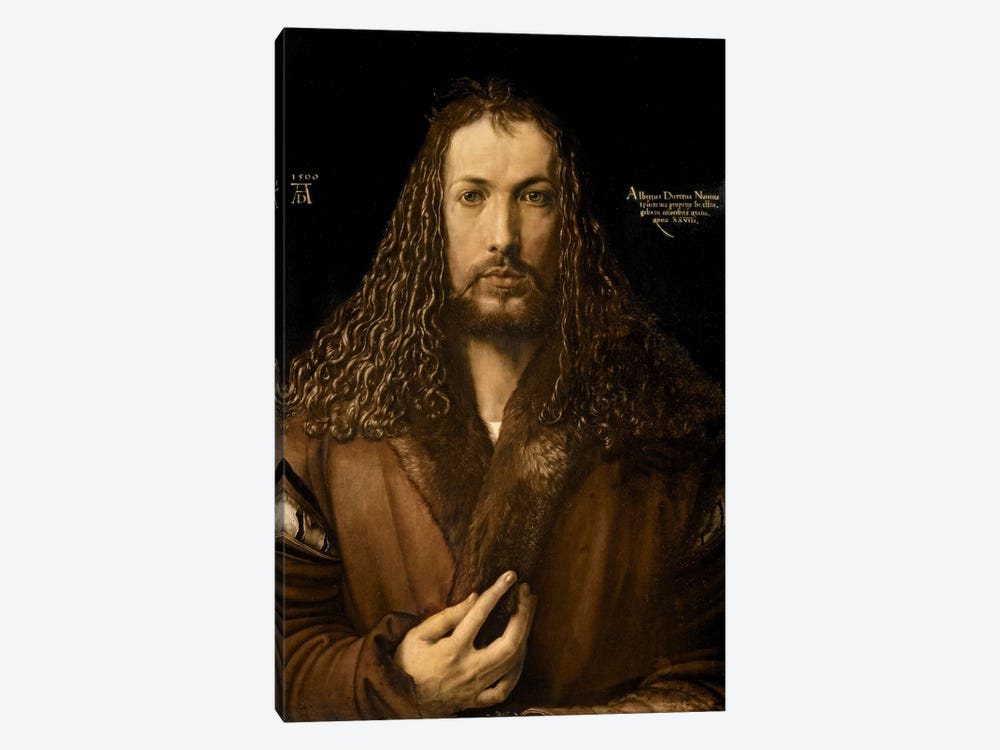 Self Portrait At The Age Of Twenty-Eight, 1500 by Albrecht Dürer 1-piece Canvas Wall Art