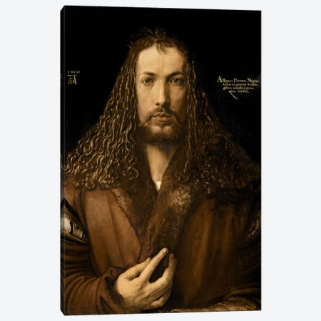 Self Portrait At The Age Of Twenty-Eight, 1500 Canvas Print #BMN6581} by Albrecht Dürer Canvas Wall Art