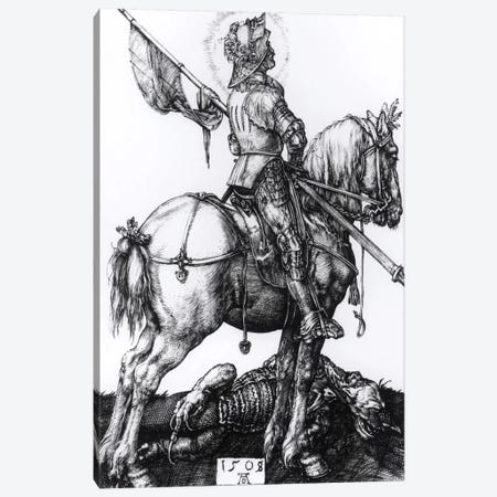 St. George And The Dragon, 1508 Canvas Print #BMN6583} by Albrecht Dürer Canvas Artwork