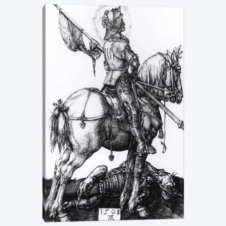 St. George And The Dragon, 1508 Canvas Print #BMN6583} by Albrecht Dürer Canvas Artwork