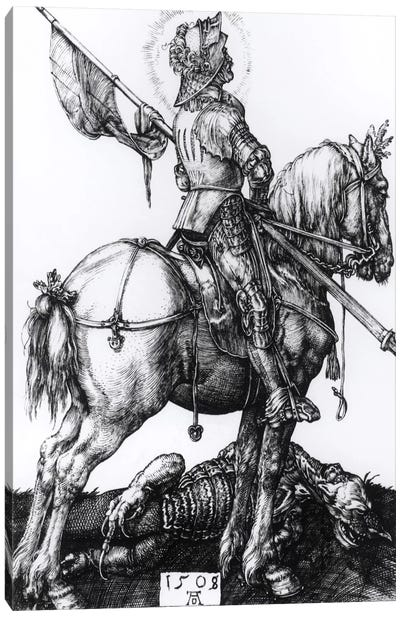 St. George And The Dragon, 1508 Canvas Art Print