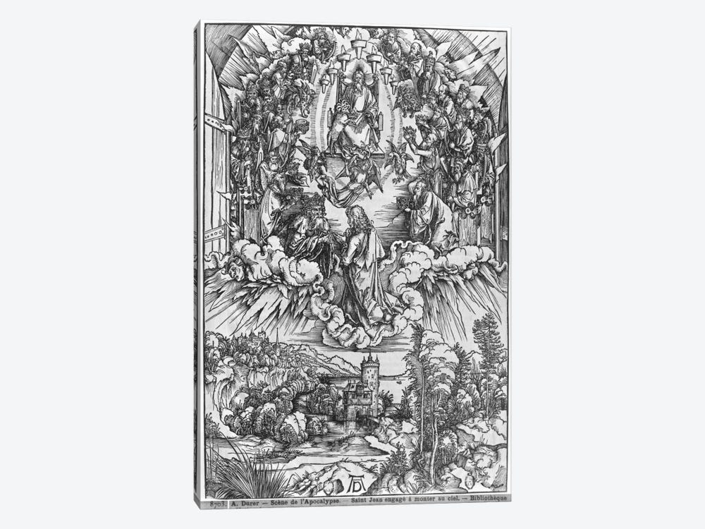 St. John Before God The Father And The Twenty-Four Elders (Illustration From The Apocalypse - German Edition) by Albrecht Dürer 1-piece Canvas Art Print