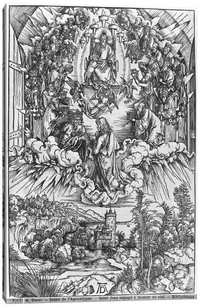 St. John Before God The Father And The Twenty-Four Elders (Illustration From The Apocalypse - German Edition) Canvas Art Print