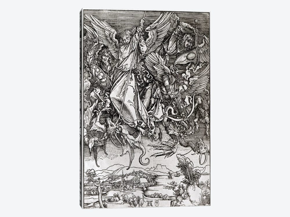 St. Michael And The Dragon (Latin Edition), 1511 by Albrecht Dürer 1-piece Canvas Artwork