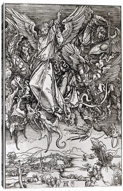 St. Michael And The Dragon (Latin Edition), 1511 Canvas Art Print