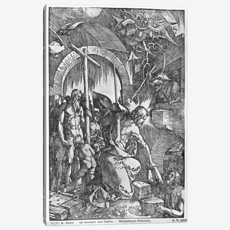 The Descent Of Christ Into Limbo (Illustration From The Great Passion) Canvas Print #BMN6590} by Albrecht Dürer Canvas Print