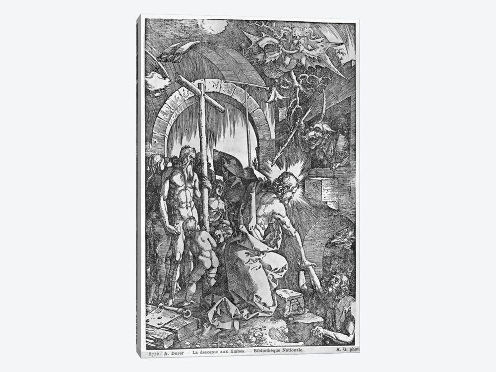 The Descent Of Christ Into Limbo (Illustration From The Great Passion) by Albrecht Dürer 1-piece Canvas Wall Art