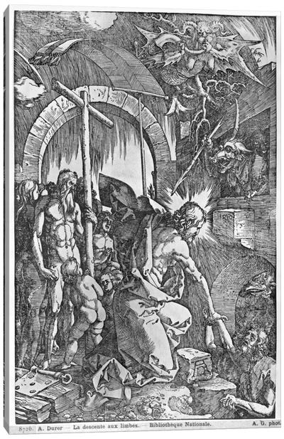 The Descent Of Christ Into Limbo (Illustration From The Great Passion) Canvas Art Print