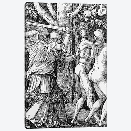 The Expulsion From Paradise, 1510 Canvas Print #BMN6591} by Albrecht Dürer Canvas Print