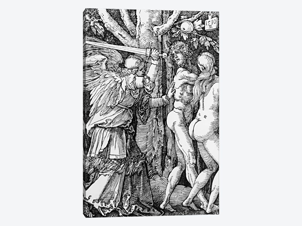 The Expulsion From Paradise, 1510 by Albrecht Dürer 1-piece Canvas Art Print