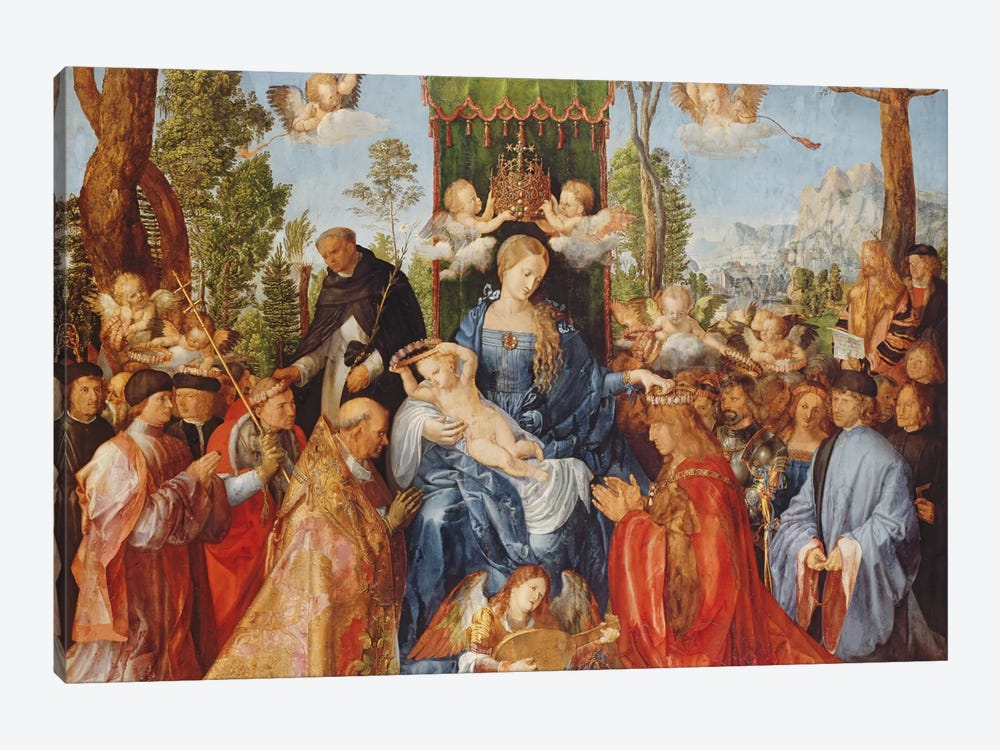 The Feast Of The Rose Garlands, 1506 by Albrecht Dürer 1-piece Canvas Wall Art