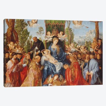 The Feast Of The Rose Garlands, 1506 Canvas Print #BMN6592} by Albrecht Dürer Canvas Art Print