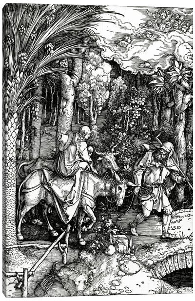 The Flight Into Egypt (Illustration From The Life Of The Virgin) Canvas Print #BMN6593