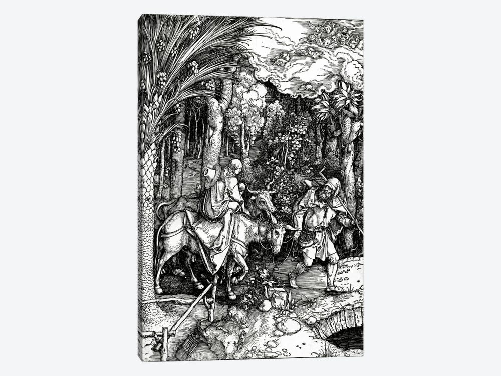 The Flight Into Egypt (Illustration From The Life Of The Virgin) by Albrecht Dürer 1-piece Canvas Art Print