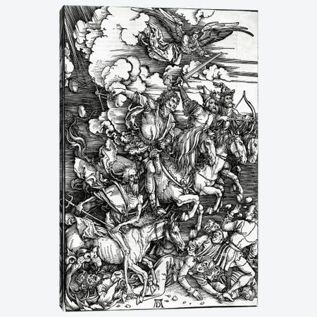 The Four Horseman Of The Apocalypse, 1498 Canvas Print #BMN6594} by Albrecht Dürer Canvas Art