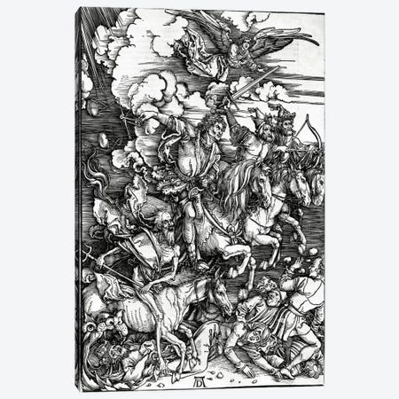 The Four Horseman Of The Apocalypse, 1498 Canvas Print #BMN6594} by Albrecht Dürer Canvas Art