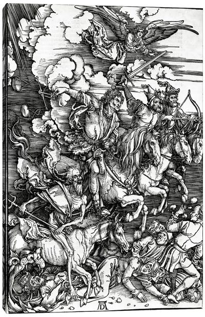 The Four Horseman Of The Apocalypse, 1498 Canvas Art Print