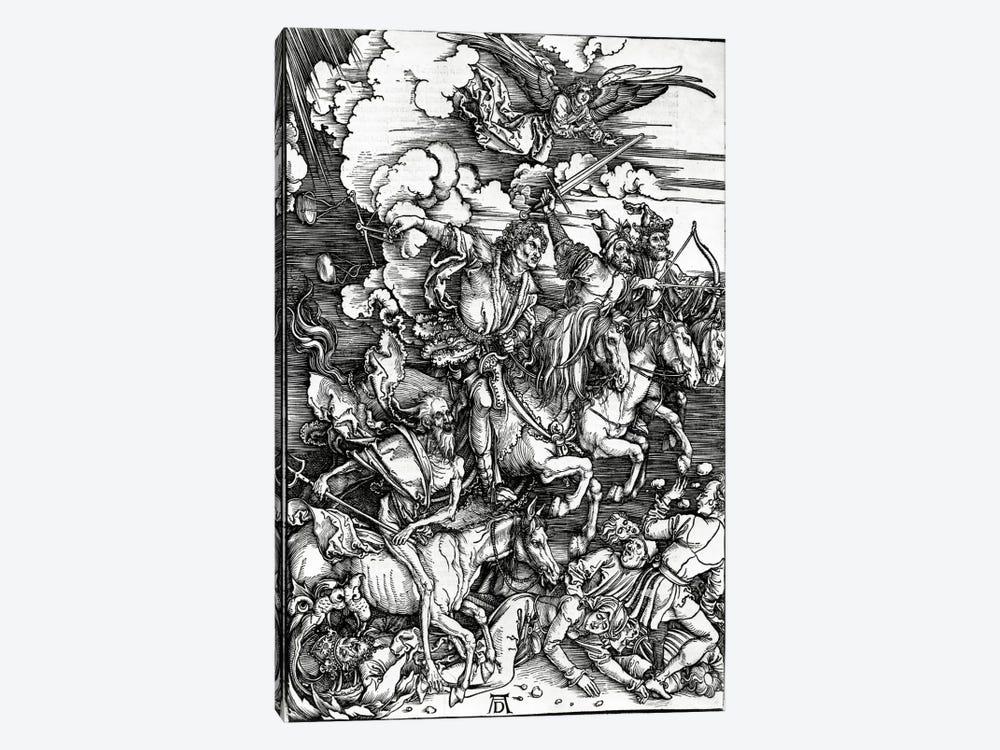 The Four Horseman Of The Apocalypse, 1498 by Albrecht Dürer 1-piece Canvas Art