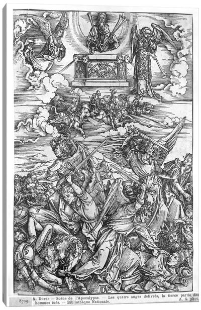 The Four Vengeful Angels (Illustration From The Apocalypse - Latin Edition) Canvas Art Print