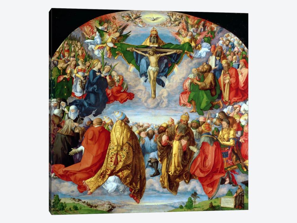 The Landauer Altarpiece, All Saints Day, 1511 by Albrecht Dürer 1-piece Canvas Art