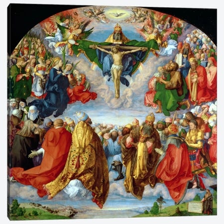 The Landauer Altarpiece, All Saints Day, 1511 Canvas Print #BMN6596} by Albrecht Dürer Canvas Wall Art