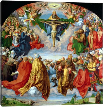 The Landauer Altarpiece, All Saints Day, 1511 Canvas Art Print