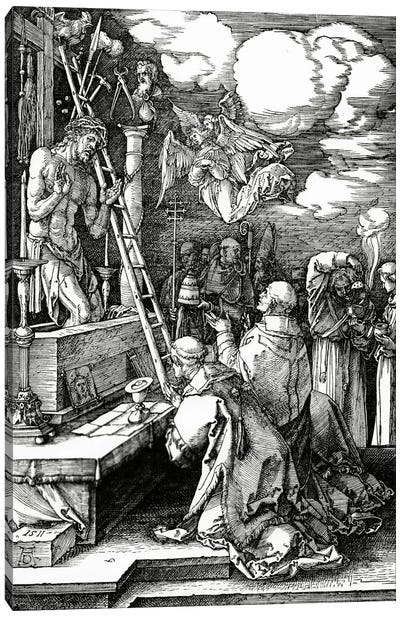 The Mass Of St. Gregory, 1511 Canvas Art Print