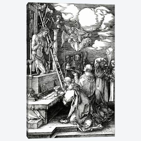 The Mass Of St. Gregory, 1511 Canvas Print #BMN6597} by Albrecht Dürer Canvas Artwork