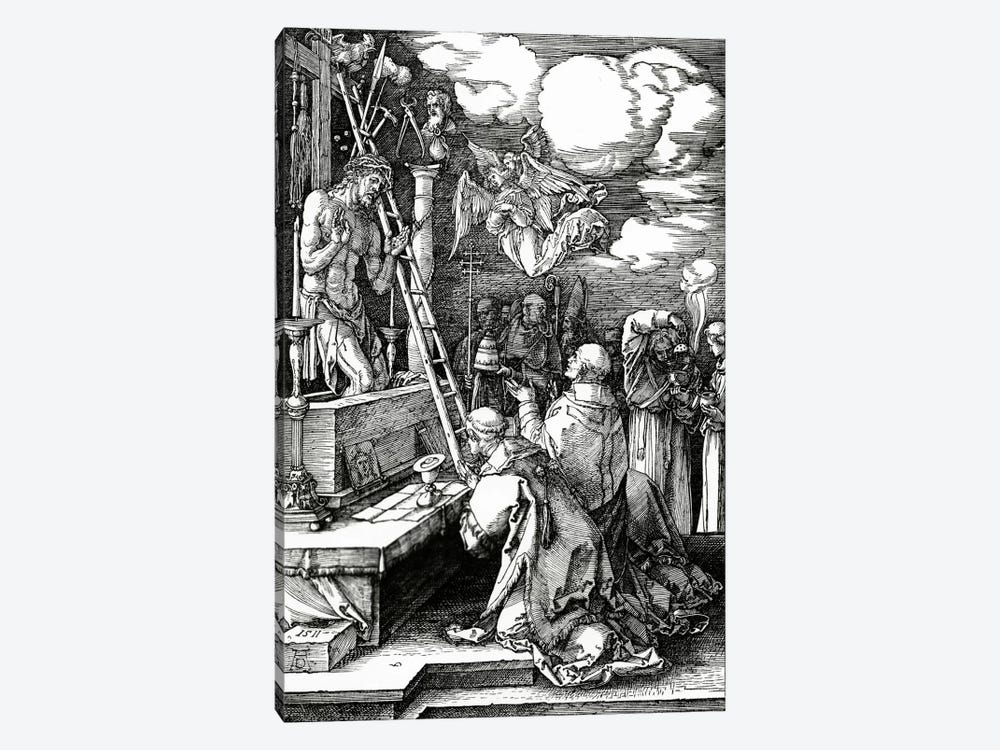 The Mass Of St. Gregory, 1511 by Albrecht Dürer 1-piece Art Print
