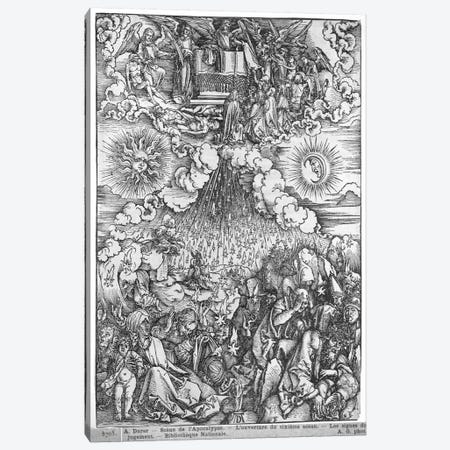 The Opening Of The Fifth And Sixth Seals (Illustration From The Apocalypse - Latin Edition) Canvas Print #BMN6598} by Albrecht Dürer Canvas Art Print