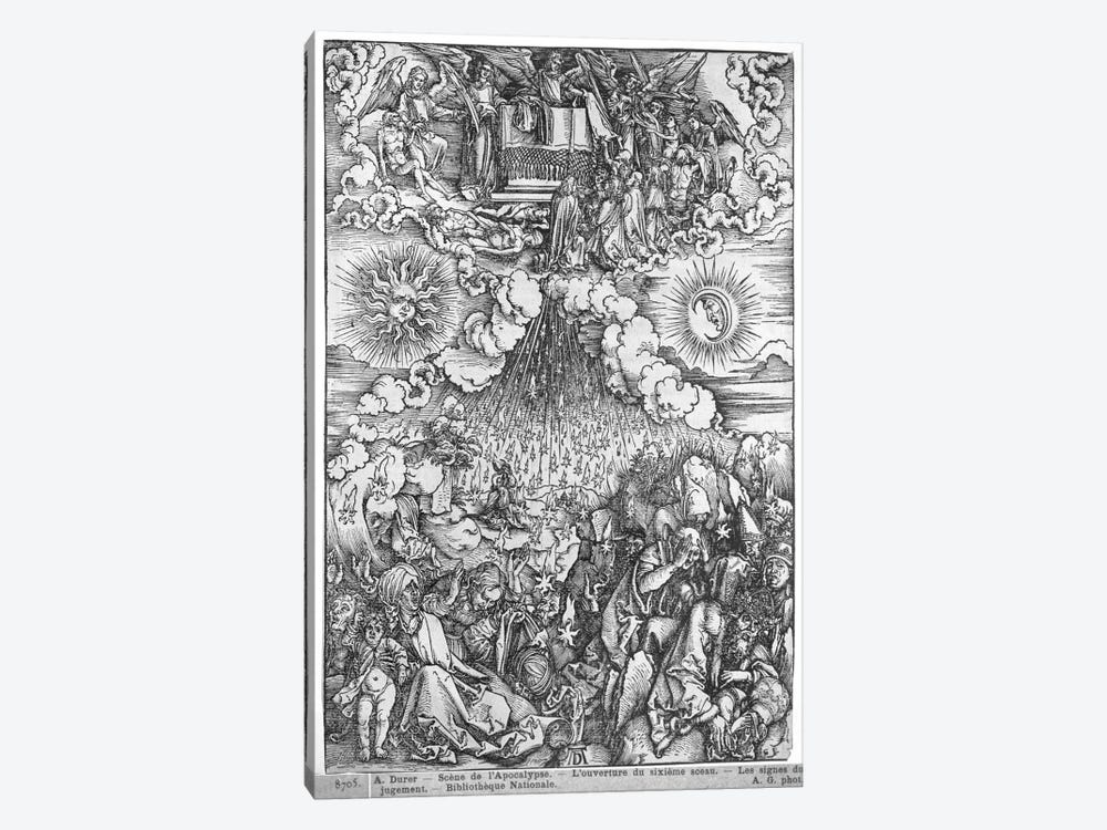 The Opening Of The Fifth And Sixth Seals (Illustration From The Apocalypse - Latin Edition) by Albrecht Dürer 1-piece Canvas Art