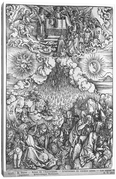 The Opening Of The Fifth And Sixth Seals (Illustration From The Apocalypse - Latin Edition) Canvas Art Print