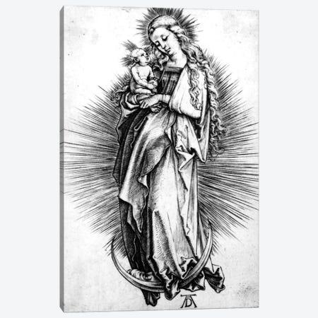 The Virgin And Child On A Crescent, 1499 Canvas Print #BMN6600} by Albrecht Dürer Canvas Print