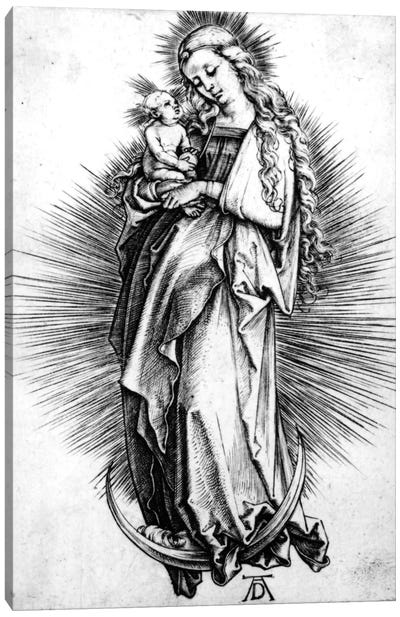 The Virgin And Child On A Crescent, 1499 Canvas Art Print