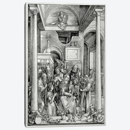 The Virgin And Child With Saints Canvas Print #BMN6601} by Albrecht Dürer Canvas Print