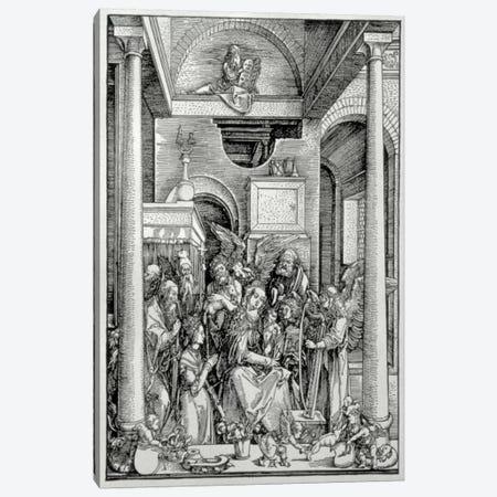 The Virgin And Child With Saints Canvas Print #BMN6601} by Albrecht Dürer Canvas Print
