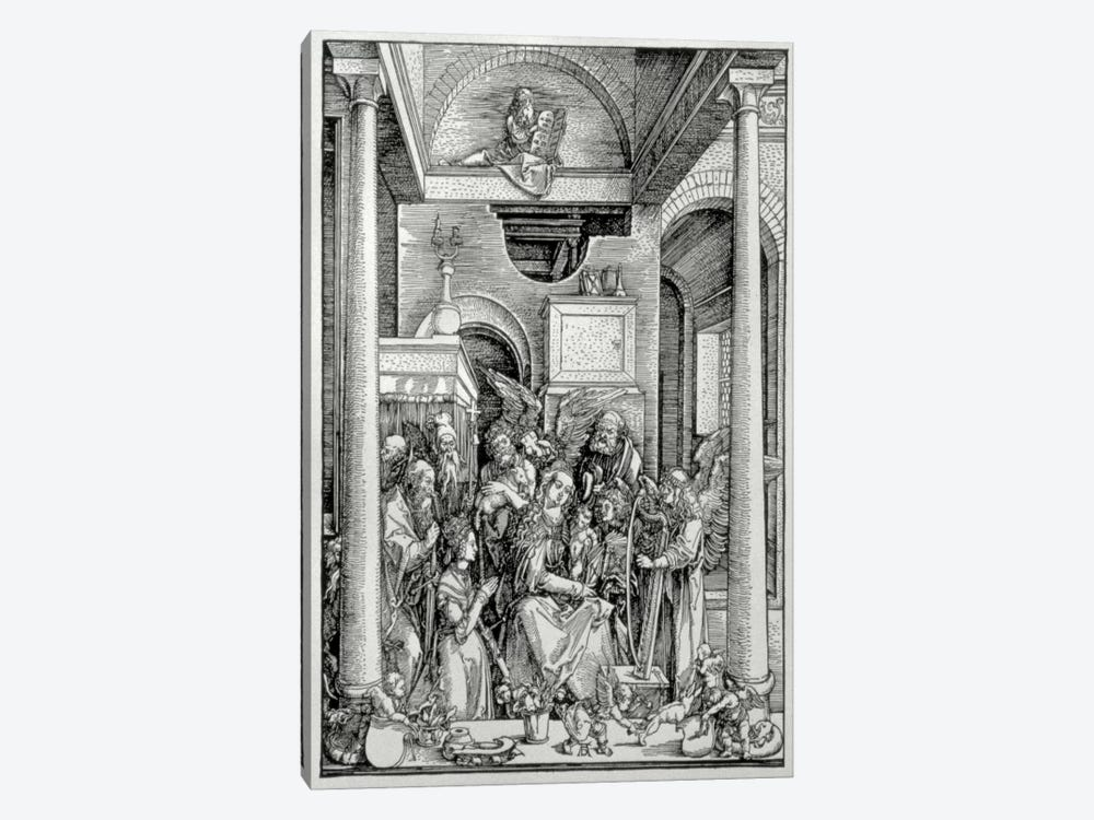 The Virgin And Child With Saints by Albrecht Dürer 1-piece Canvas Wall Art